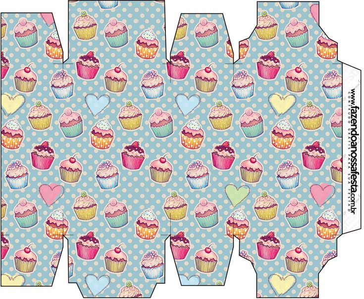 Caixa Sabonete Cupcakes:
