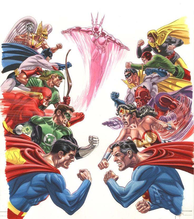 #DC #Crisis #Fan #Art. (Crisis on Multiple Earths. Vol. 2 Cover) By: Jerry Ordway. (THE * 5 * STÅR * ÅWARD * OF: * AW YEAH, IT'S MAJOR ÅWESOMENESS!!!™)[THANK U 4 PINNING!!!<·><]<©>ÅÅÅ+(OB4E)