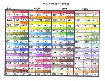 Michelle's MBellishments: favorite copic color combos links---TONS of GREAT stuff!
