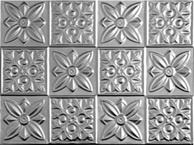 flower power aluminum backsplash shimmery silver pinterest