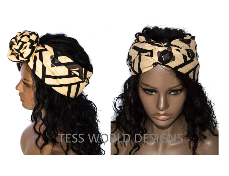 The edges of this scarf or head wrap are tailored for immediate use and made from cotton fabric.Long and wide...