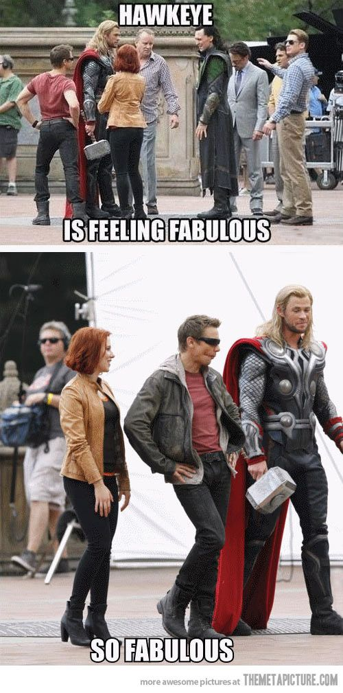 Hawkeye is feeling fabulous…: