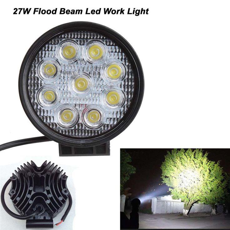 445 best car lights images on pinterest car lights cars and 1pc 27w flood led work light lamp off road high power 12v 24v atv off road sciox Choice Image