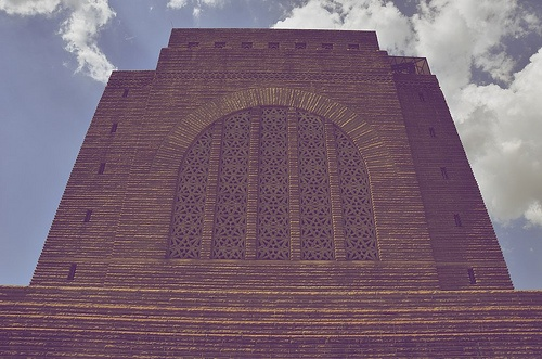 The Voortrekker Monument is located just south of Pretoria in South Africa. This massive granite structure is prominently located on a hilltop