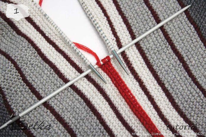 Способ i-cord для обвязки края и соединения деталей / Вязание спицами / Вязание спицами для начинающих