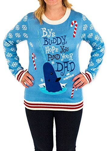 Women's Elf Holiday Narwhal Ugly Christmas Sweater in Blu... https://www.amazon.com/dp/B01EIFUHL4/ref=cm_sw_r_pi_dp_x_cYnhybS9ZCDXA
