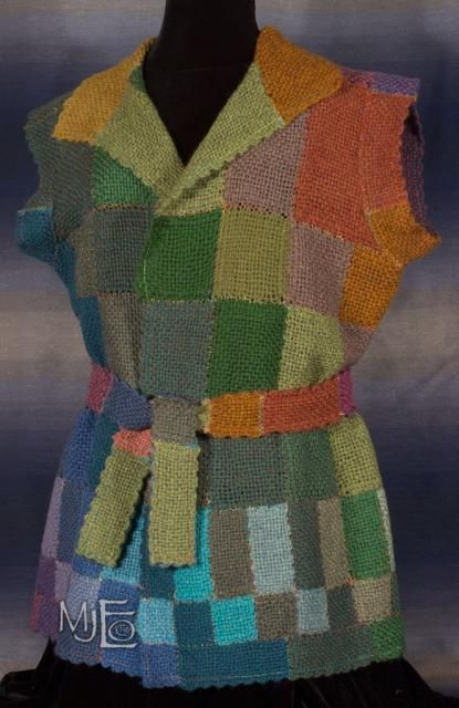 Heather Hills Tunic Belted - Made with pin looms