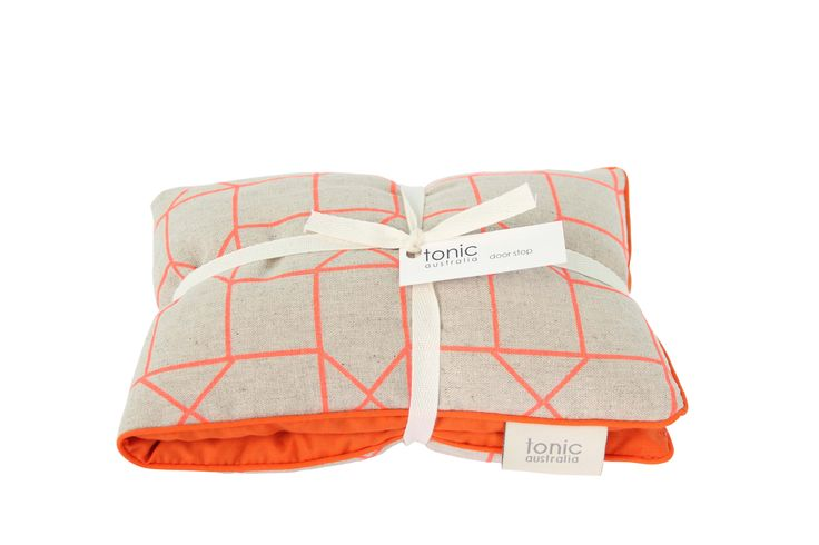 tonic australia's geo orange heat pillow