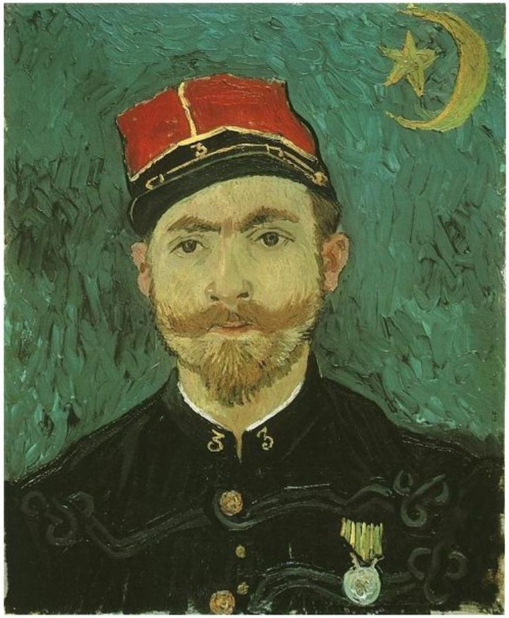 Portrait of Milliet; Second Lieutenant of the Zouaves by Van Gogh Painting, Oil on Canvas  Arles: late September, 1888