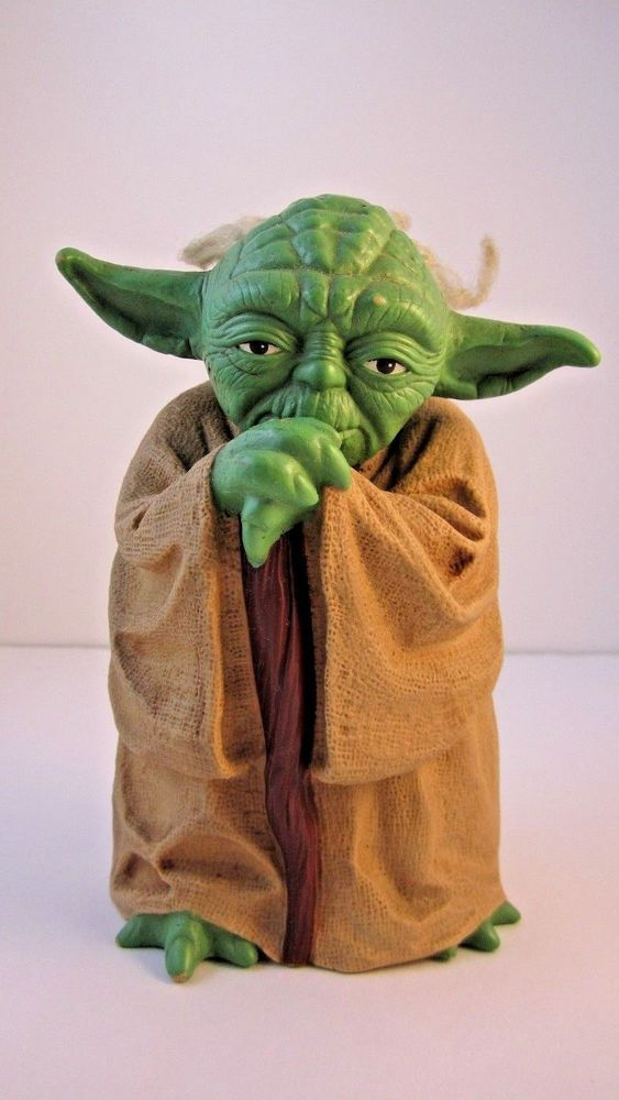 star wars empire strike back 8 rubber yoda hand puppet w rooted hair 81