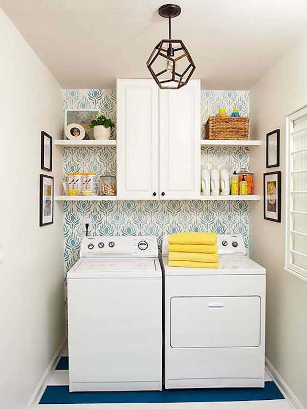 Basement remodeling ideas. DIY cabinets to add storage and hide unsightly pieces. Basement laundry room. Unfinished basement home decor tips, basement remodeling ideas, basement decor, basement remodel, basement storage.