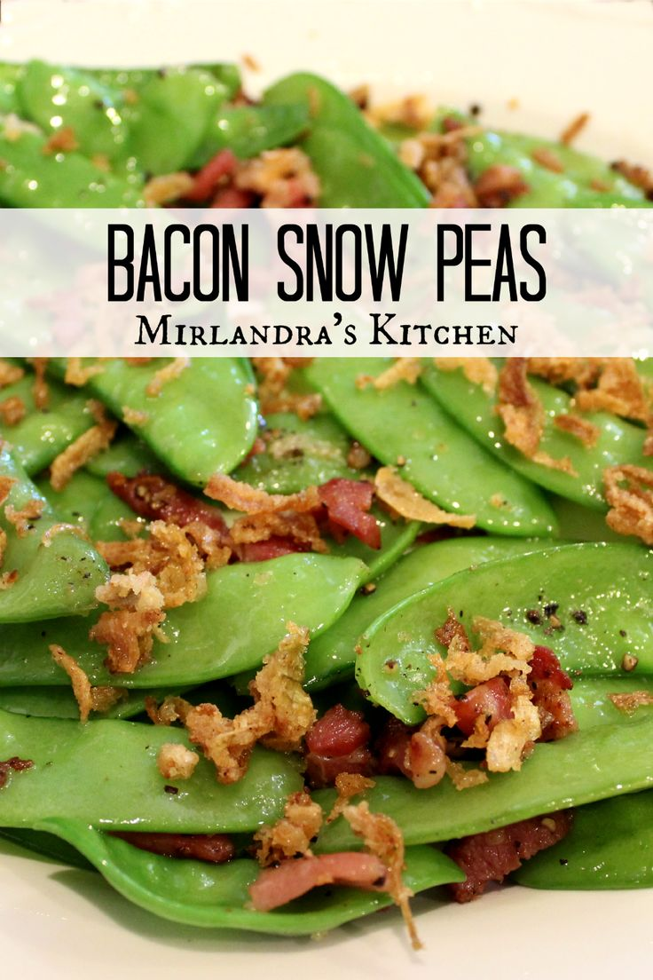 These crunchy Bacon Snow Peas are always loved around the dinner table.  Who knew eating your vegetables could be so darn delicious?  There is just enough bacon for flavor but not so much that it becomes an unhealthy side dish.