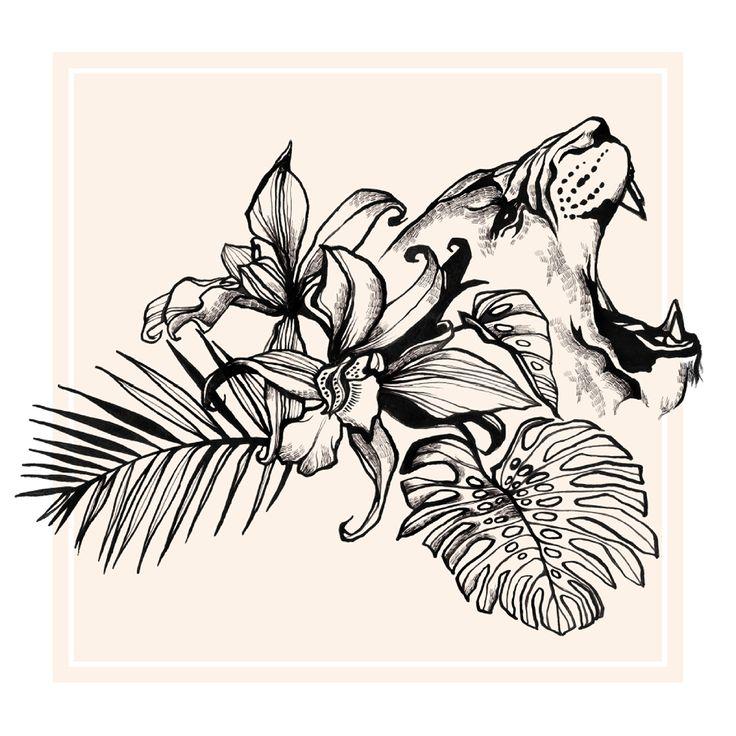Tropical Lion / Illustration Clémence Thienpont