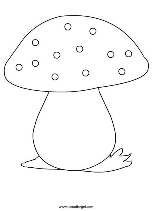 Fungo disegno cucito creativo automne e projet for Fungo da colorare per bambini