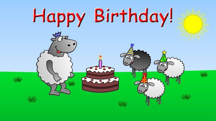 Happy Birthday To You - funny animated sheep cartoon (Happy Birthday son...