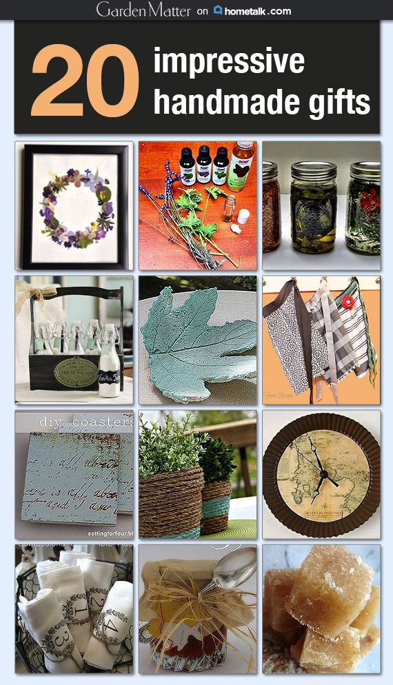 Now if only someone would give ME one of these handmade gifts…I love all of them!