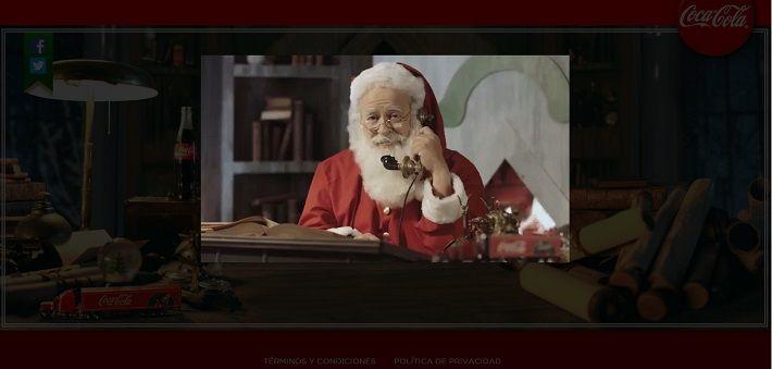 El llamado de Papá Noel de Coca Cola on http://www.dotpod.com.ar