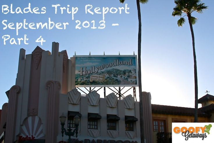 Hollywood Studios Blades Family Trip Report September 2013 Part 4!!!