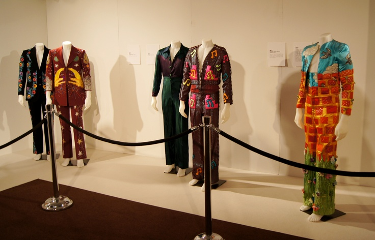 Fashion Cares 25 - Elton John's costumes exhibit at the Lower Lobby.