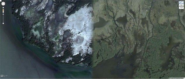 images satellite google maps a differentes saisons 9   Images satellite Google Maps à différentes saisons   satellite saison photo image google earth google Daniel Schwarz