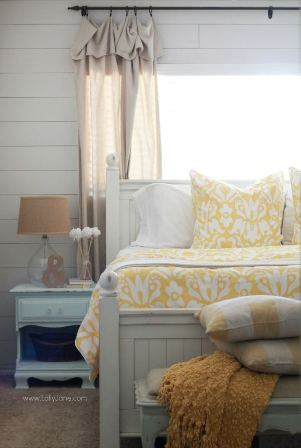 Master Bedroom Refresh, hello yellow!