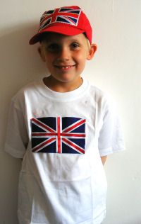 DIY Union Jack t-shirt  #queensbirthday #streetparty #upcycle