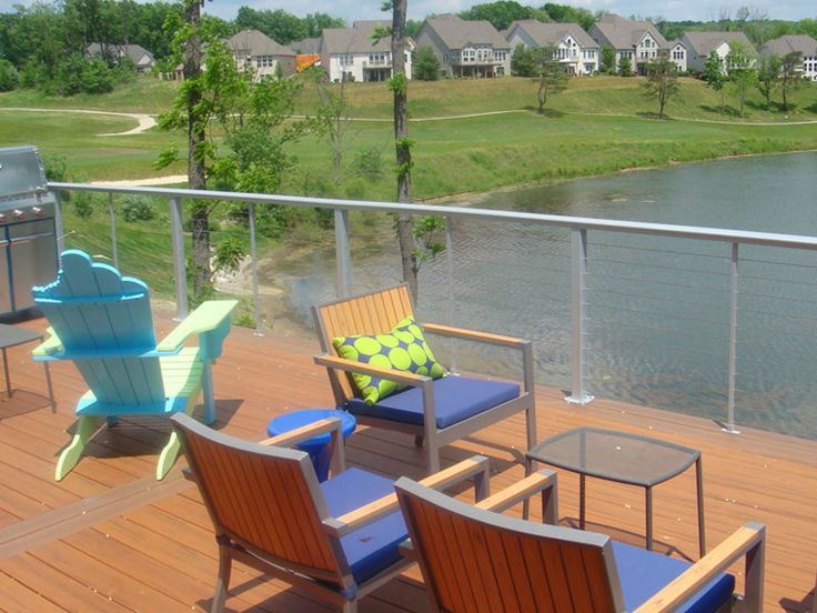 Aluminum Railing With Cable Rail Infill On Waterfront