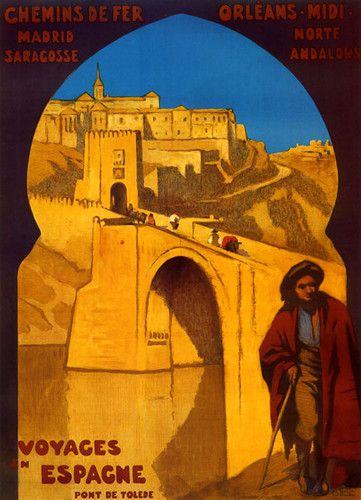 Voyages en Espagne :: #Spain Madrid Orleans France French #Tourism #Travel #Vintage #Poster