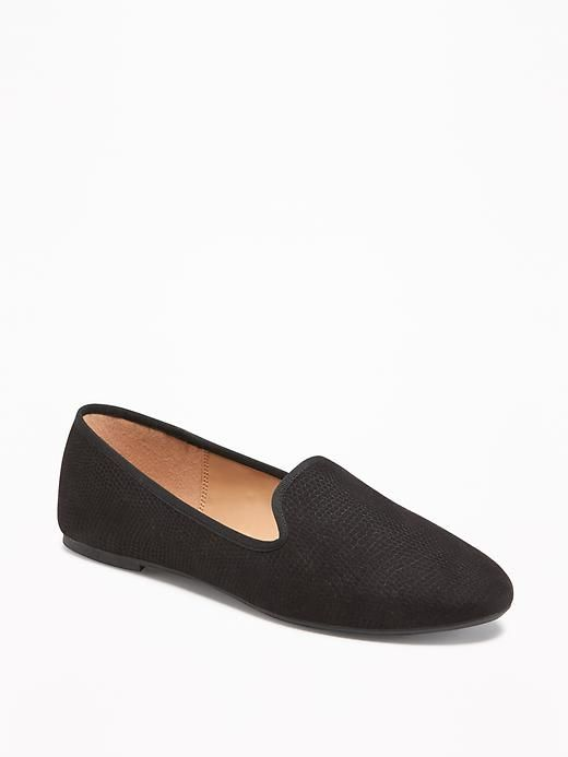 Old Navy Sueded Loafers for Women,Black