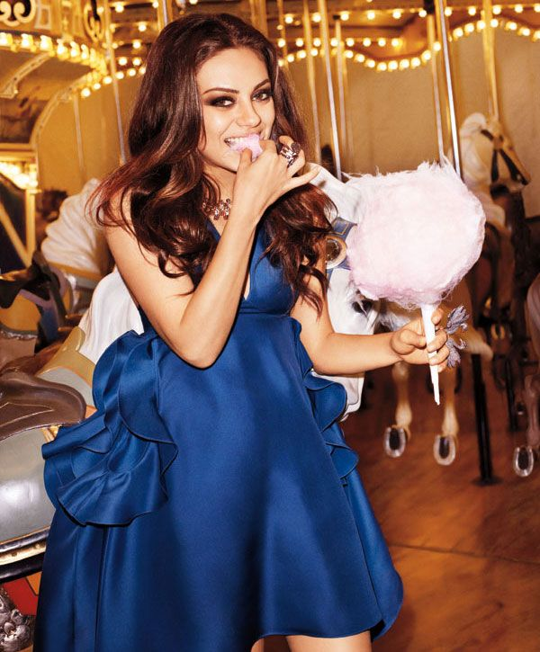 Mila Kunis Goes Around the Carousel for Bazaar - My Modern Met