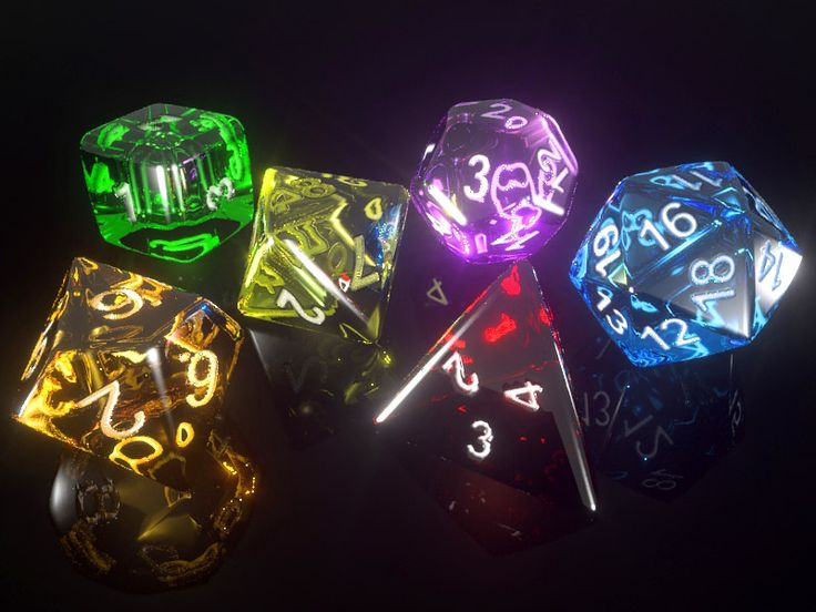 RPG Dice Set by JihCe.deviantart.com on @DeviantArt