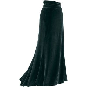 Green Velvet Godet Skirt - New Age, Spiritual Gifts, Yoga, Wicca, Gothic, Reiki, Celtic, Crystal, Tarot at Pyramid Collection