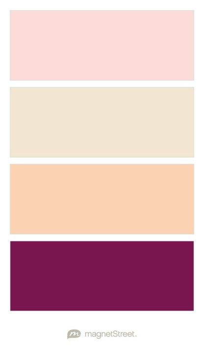 Teaberry, Champagne, Peach, and Sangria Wedding Color Palette - custom color palette created at MagnetStreet.com