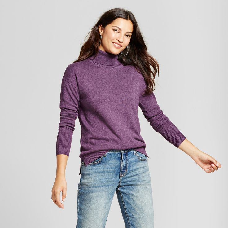 Purple Sweater Turtleneck Ancensored 1