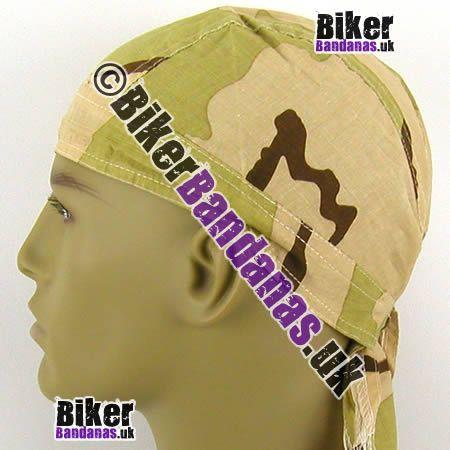 Desert Storm Camouflage Zandana / Head Wrap / Fitted Bandana / Do-Rag