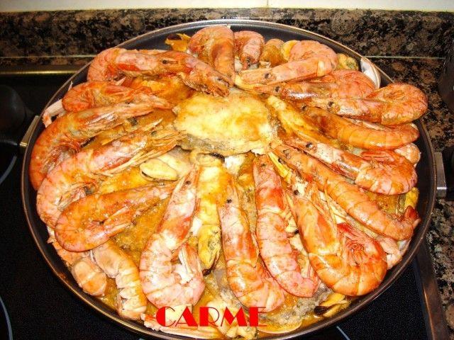 #Zarzuela de pescado y marisco Navideña. Ver #receta de #Navidad: http://www.mis-recetas.org/recetas/show/12156-zarzuela-de-pescado-y-marisco-navidena