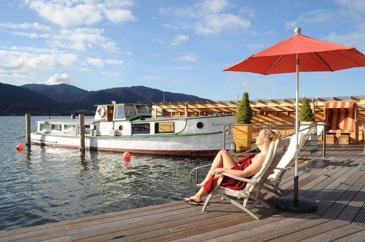 Irmingard, das Saunaschiff im Tegernsee