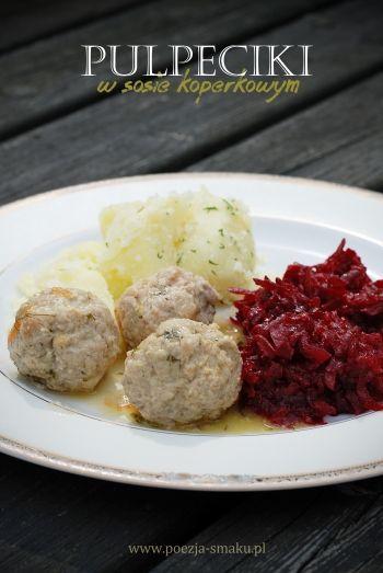 Pulpeciki w sosie koperkowym / Meatballs with dill sauce (recipe in Polish)