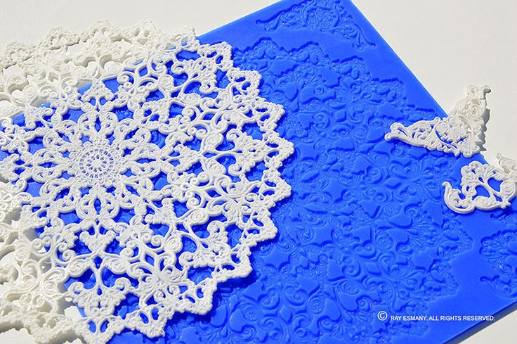Beautiful and intricate DoilyArt silicion mat design: VINTAGE
