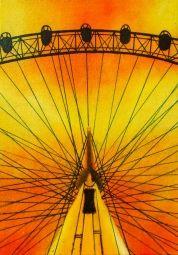London Eye in a Sunset Sky / Curious Duke Gallery