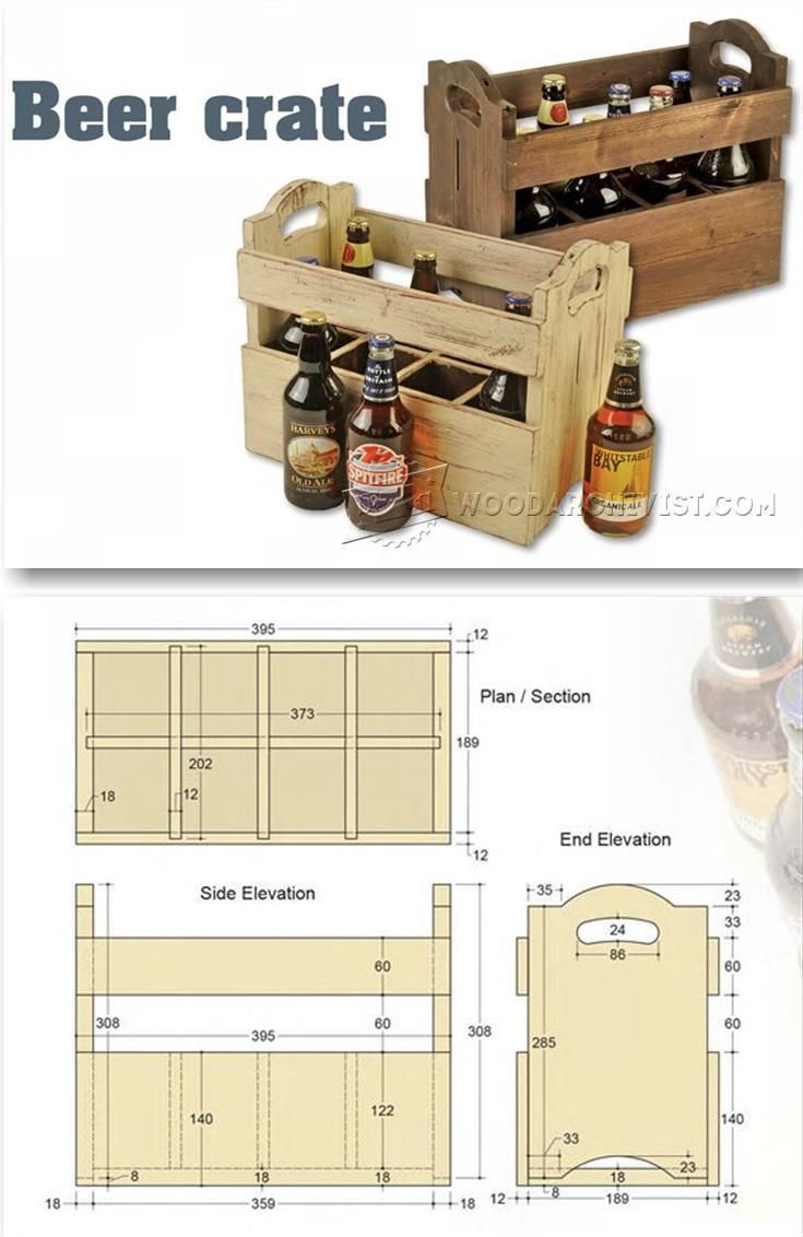Beer Crate Plans - Woodworking Plans and Projects   WoodArchivist.com