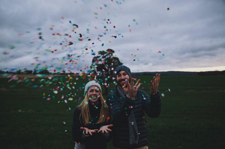 Confetti fun, engagement session