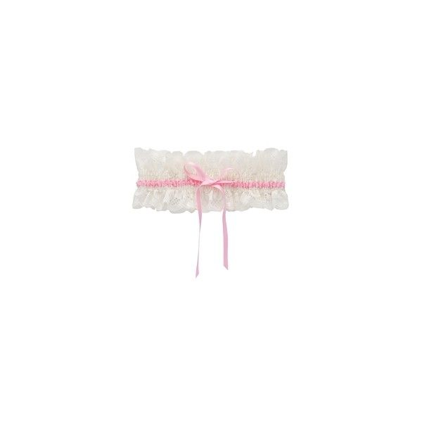 TRASPARENZE AURORA Pink Bridal Garter ($15) ❤ liked on Polyvore featuring intimates, garter, fillers, lingerie, undergarments, underwear, women, lace lingerie, pink lingerie and pink lace lingerie