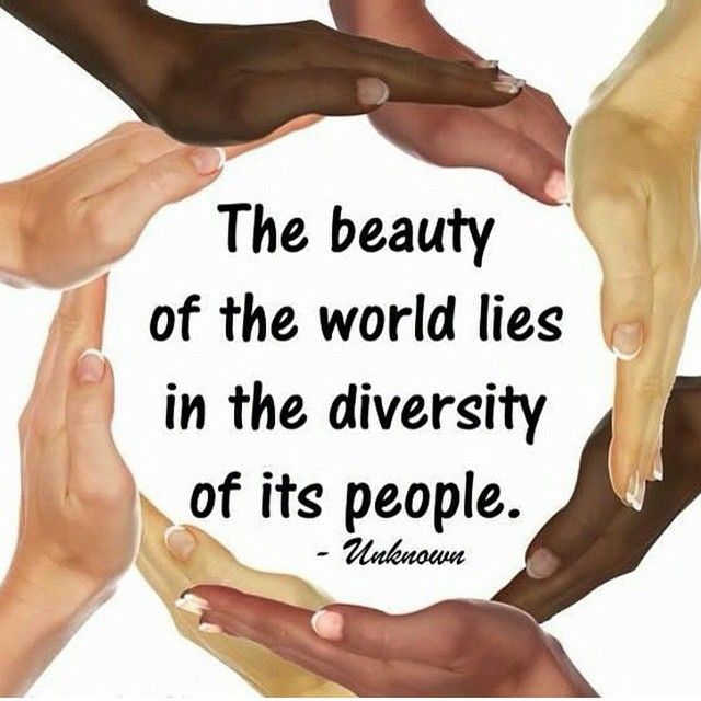 The beauty of the world lies in the diversity of its people. We must find a way to move forward and get along. We must realize that #WeAreOne #4biddenknowledge