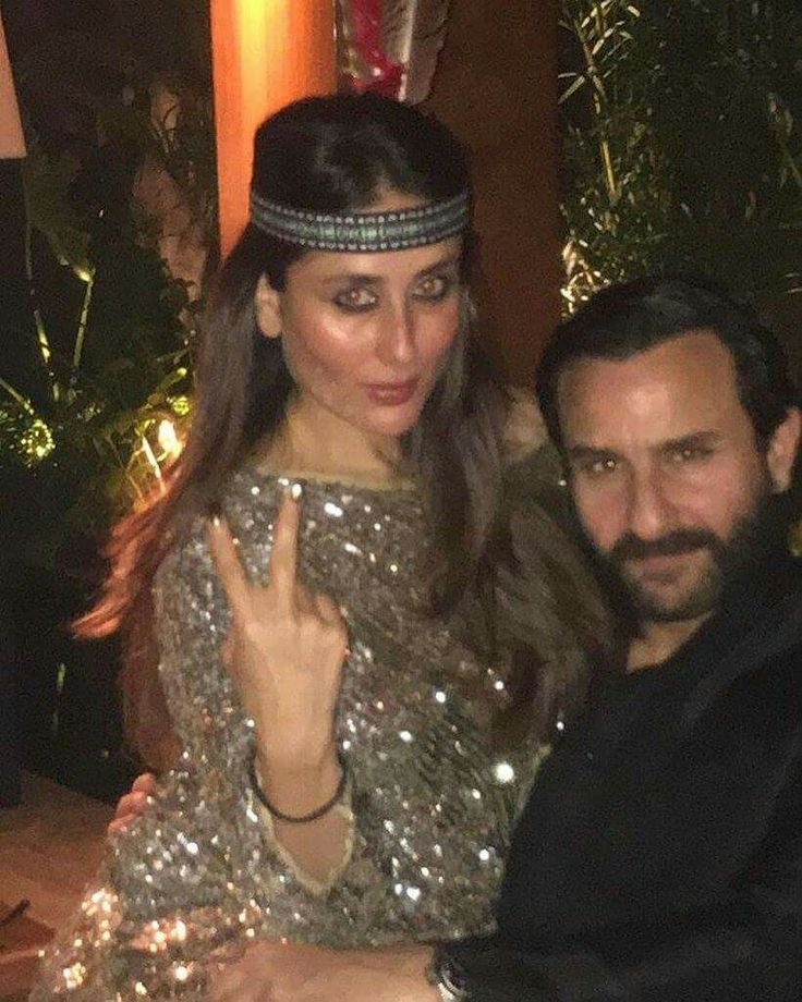 Bollywood actress Kareena kapoor khan with Saif Ali Khan at Amrita arora birthday bash