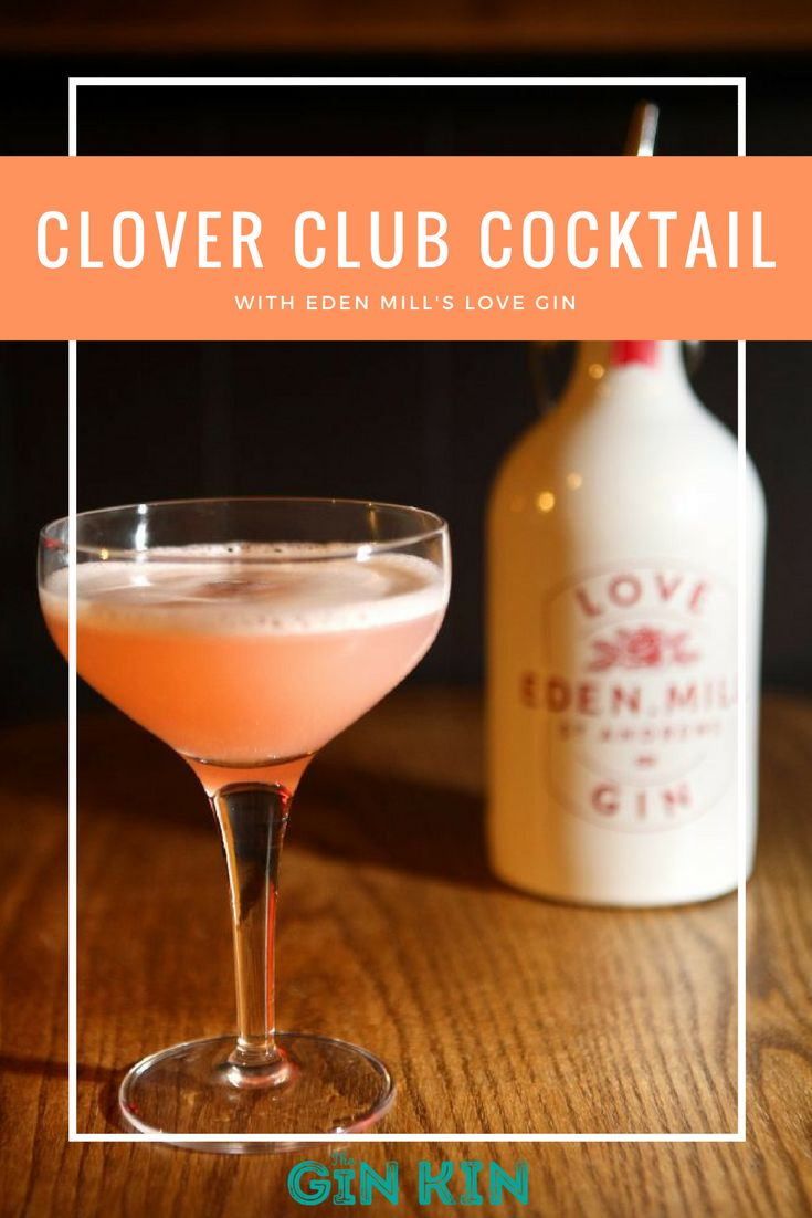 Gorgeous Clover Club cocktail recipe made with Eden Mill's Love Gin