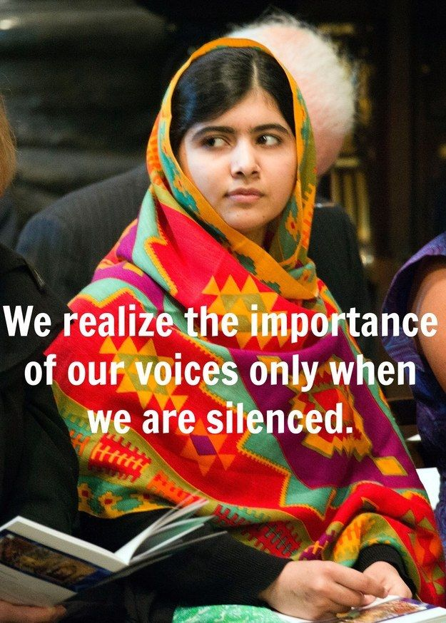 12 Powerful And Inspiring Quotes From Malala Yousafzai : be brave - 2014 Nobel…