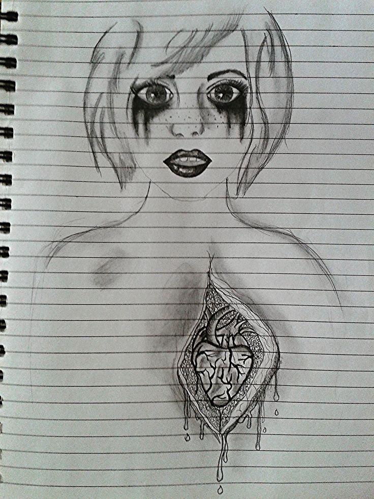 Open heart sketch