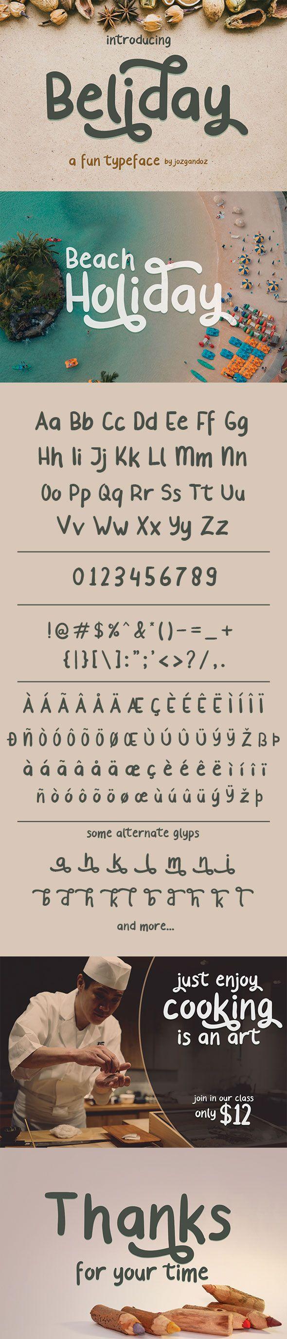 #Beliday - Fun and Cute #Font - Fancy Fonts