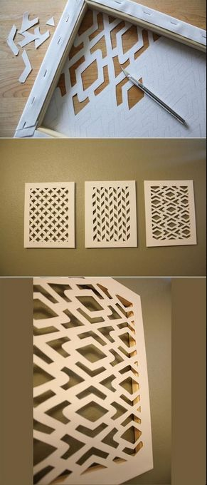 This #DIY Cut Canvas is a FUN way to decorate the walls in your room.